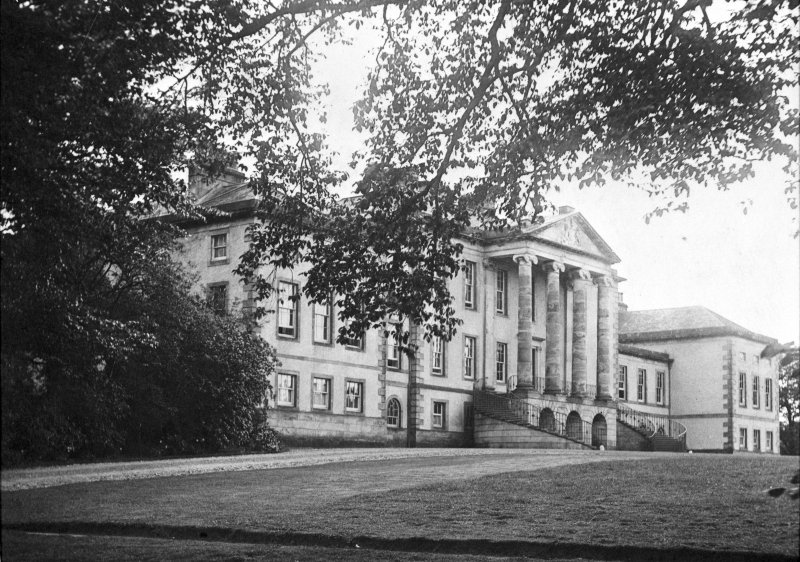 View of the north front Valleyfield House from the NE.