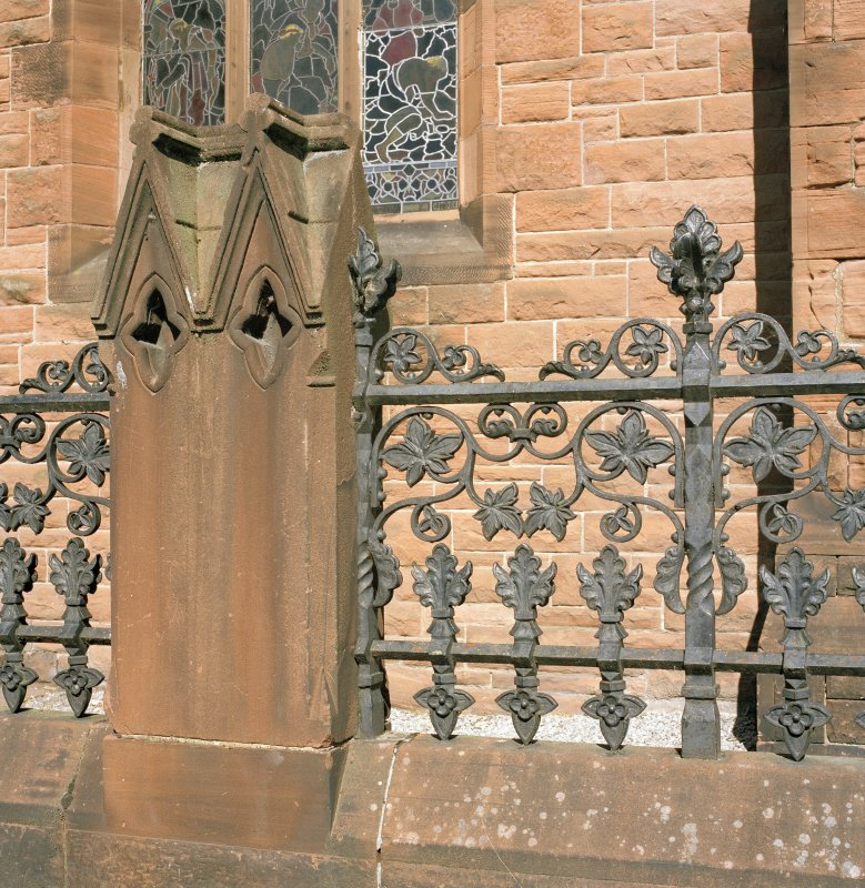 Detail. Cast iron railings