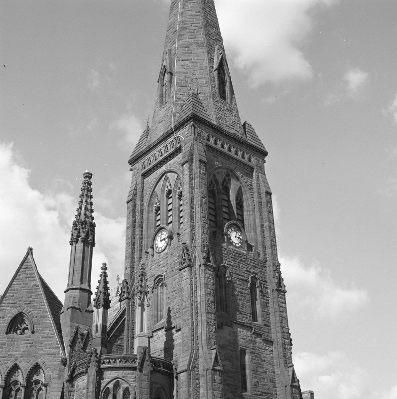 Detail. Tower and spire