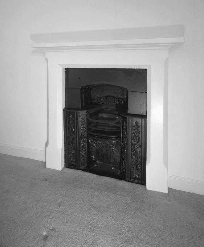 Interior. Fireplace with register grate