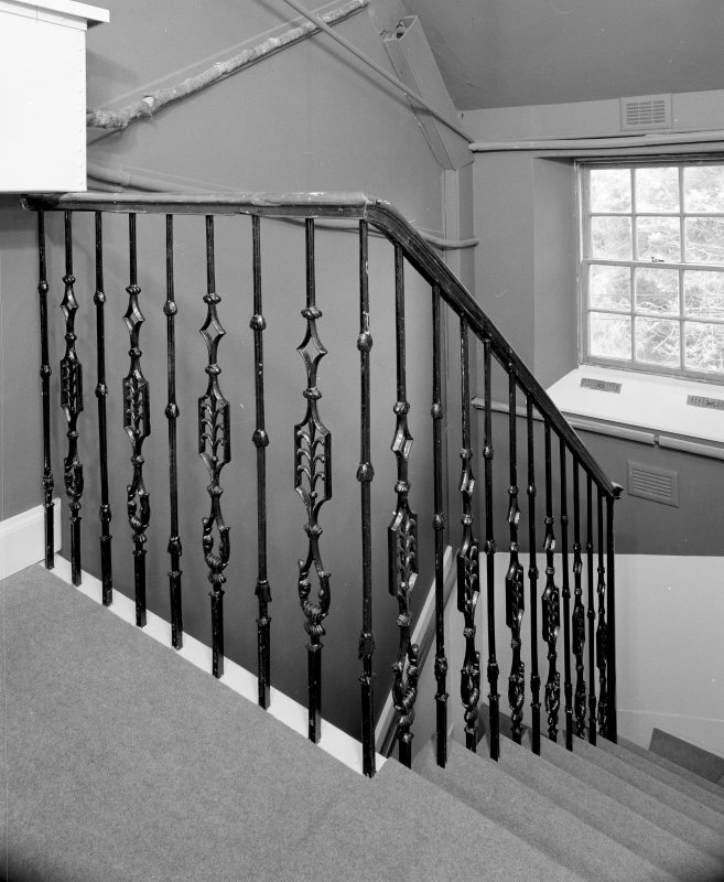 Interior. East staircase cast iron bannister