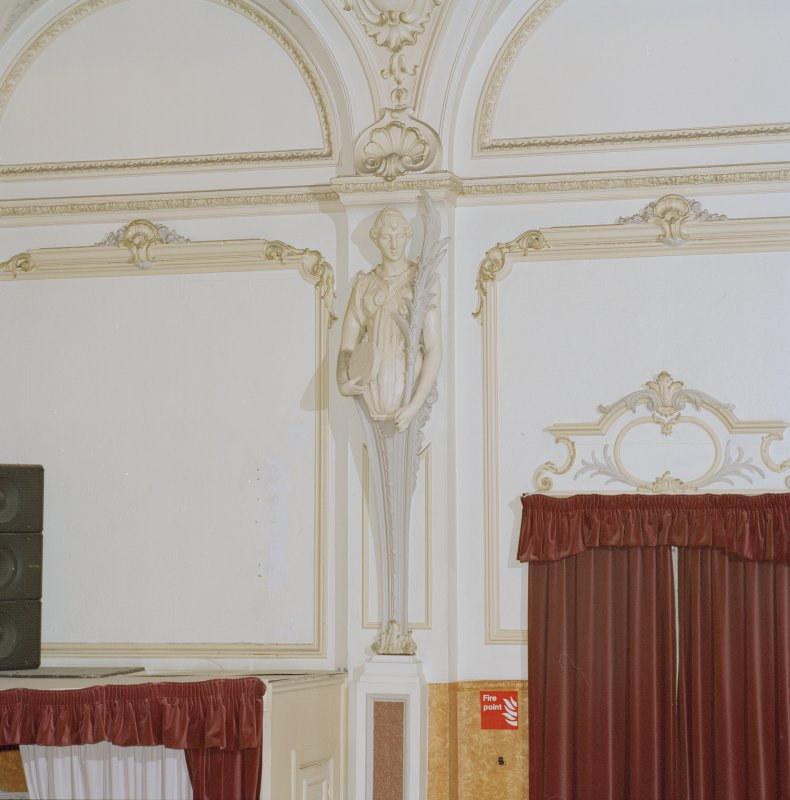 Interior.  Auditorium, detail of plaster figure