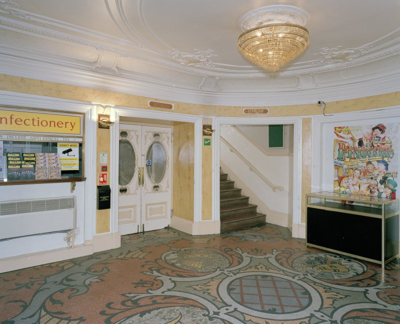 Interior.  Foyer, view from NE
