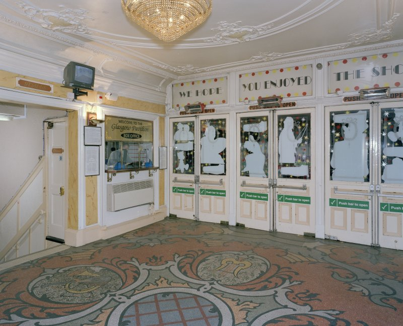 Interior.  Foyer, view from SW