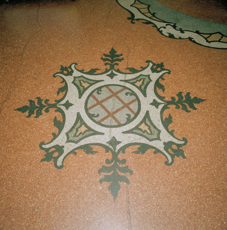 Interior.  Circle, entrance hall, detail of floor