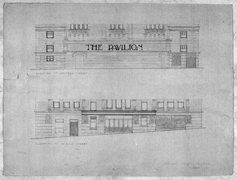 Photographic copy of drawing showing alterations