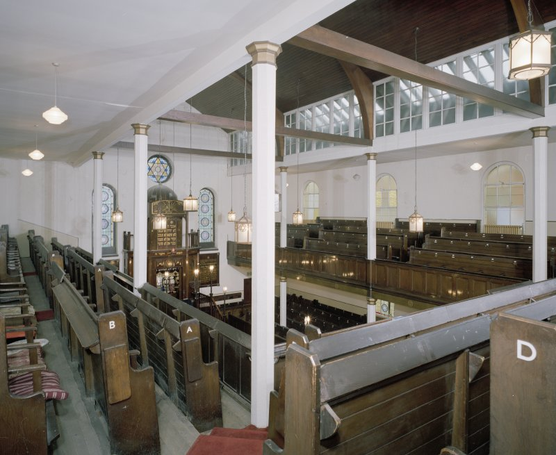 Interior. View of gallery showing clerestory