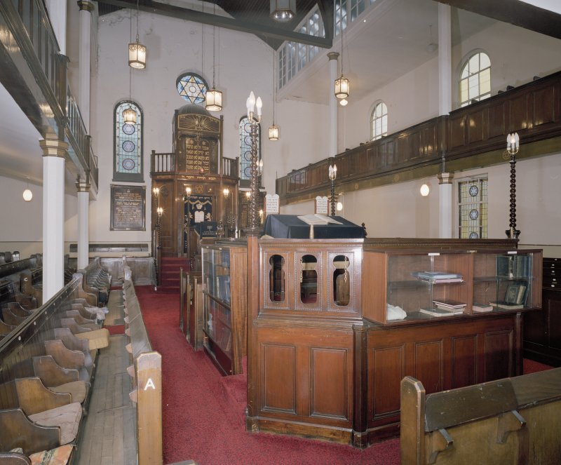 Interior. View of ground floor and Bimah