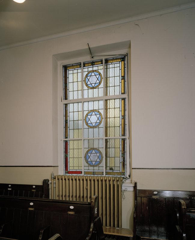 Interior. SW wall. Detail of window