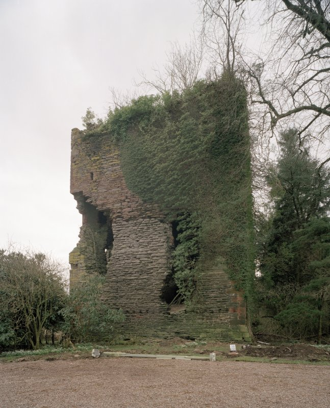 View of ruins from NNW