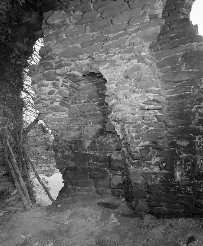 Interior. Detail of fireplace