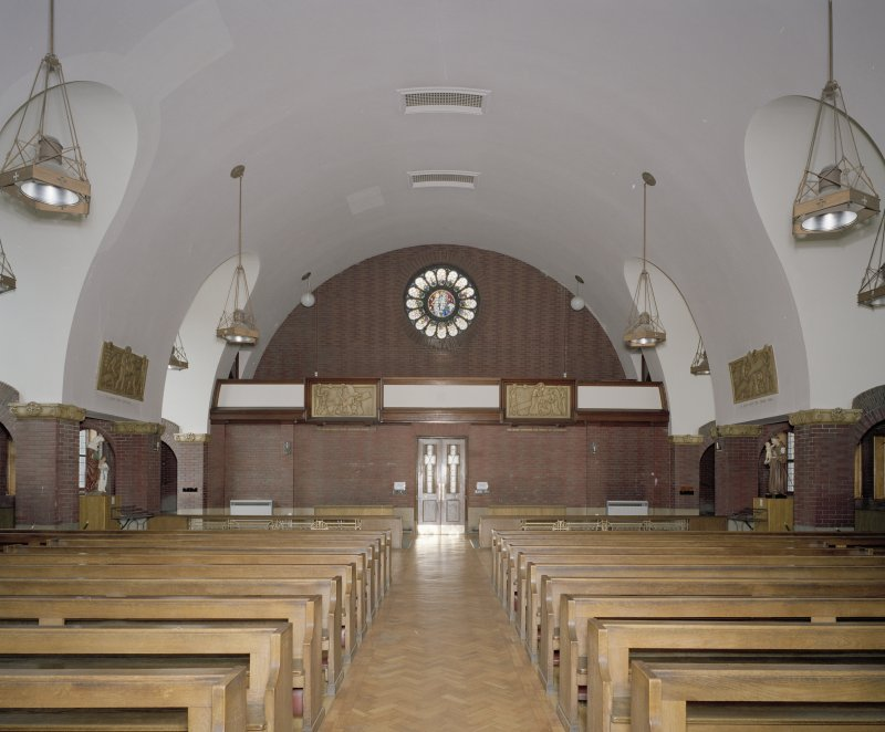 Church. Interior. View from E