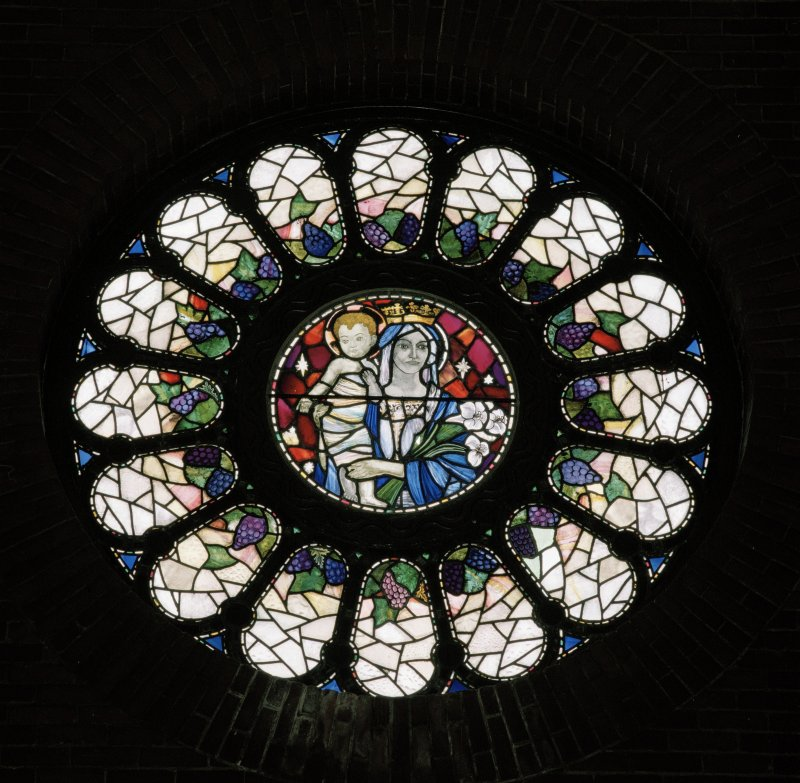 Church. Interior. Detail of W Rose window