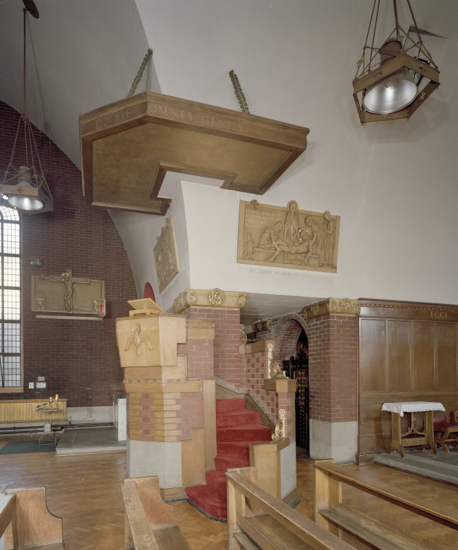 Church. Interior. View of pulpit