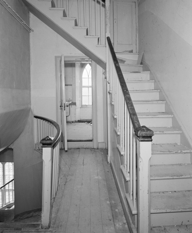 Interior. View of staircase to attic