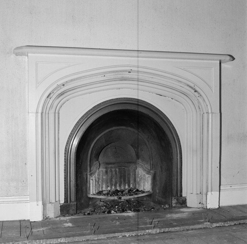 Interior. Detail of bedroom fireplace