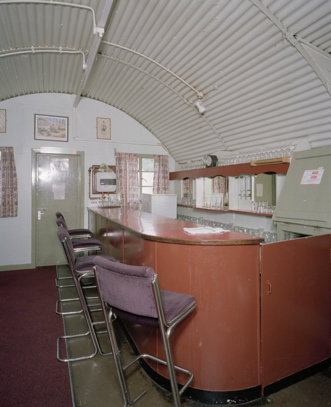 Interior view of officers mess bar serving area (hut 27)