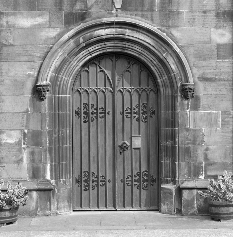 West doorway, view from west