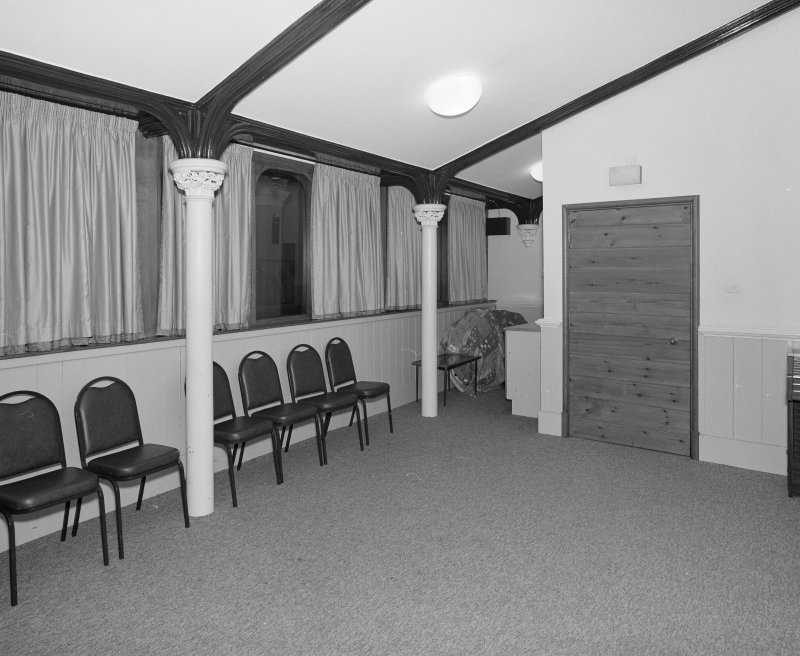 Interior, Emmaus room, view from south