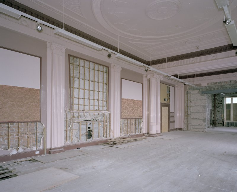 Interior. Ground floor, ballroom, view from SW