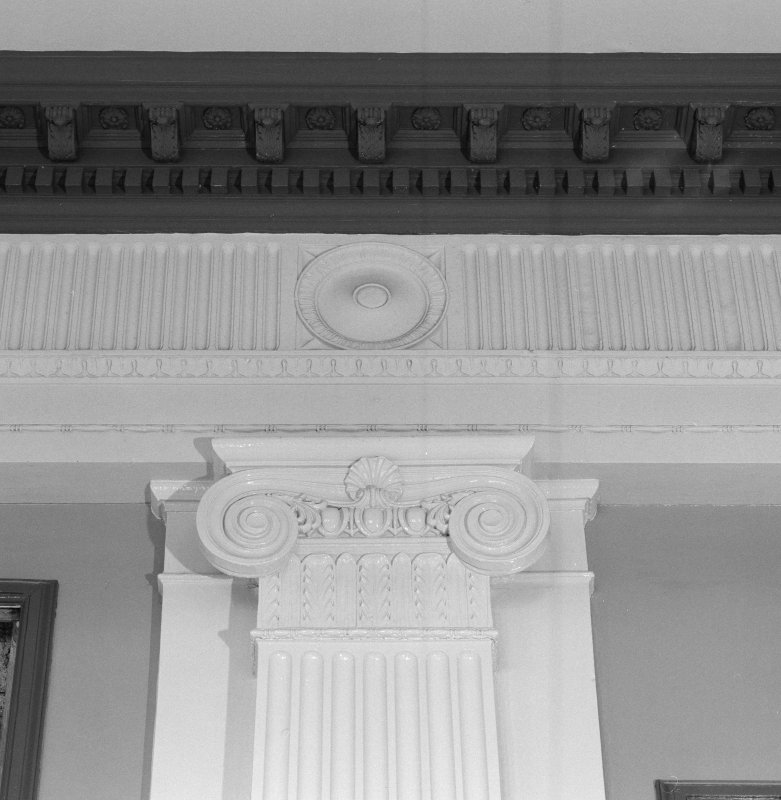 Interior. Ground floor, ballroom, detail of pilaster capital