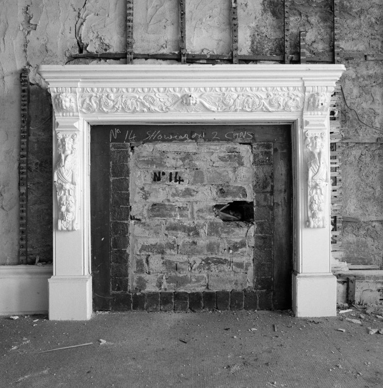Interior. 1st floor, Sir James Matheson's bedroom, detail of fireplace