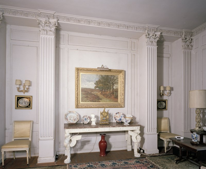 Interior. Ground floor. Dining room showing sideboard niche