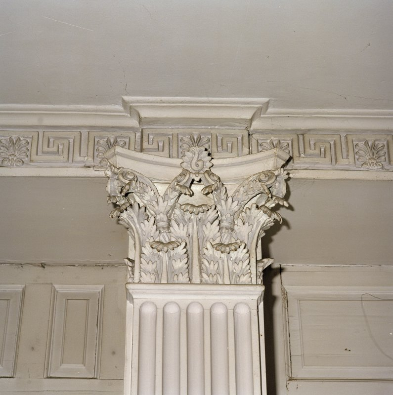 Interior. Ground floor. Dining room. Detail of Corinthian pilaster capital