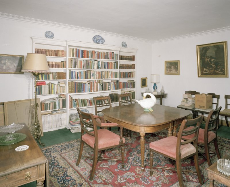 Interior. Ground floor. Library.