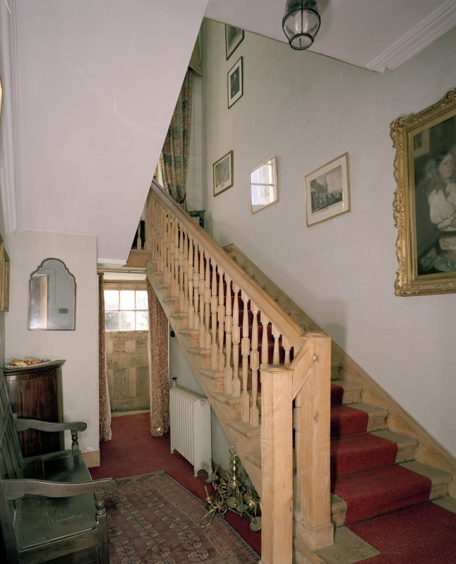 Interior. Ground floor. Main stair to  first floor.