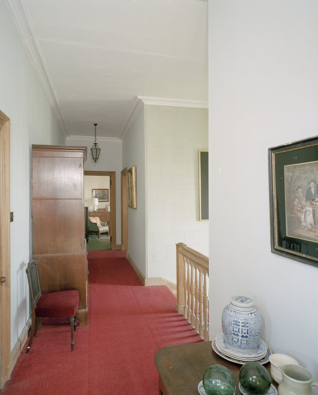 Interior. First floor. Main stair.