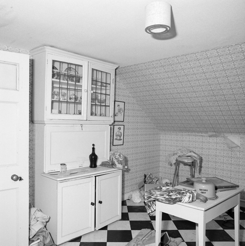 Interior. Attic. Kitchen.