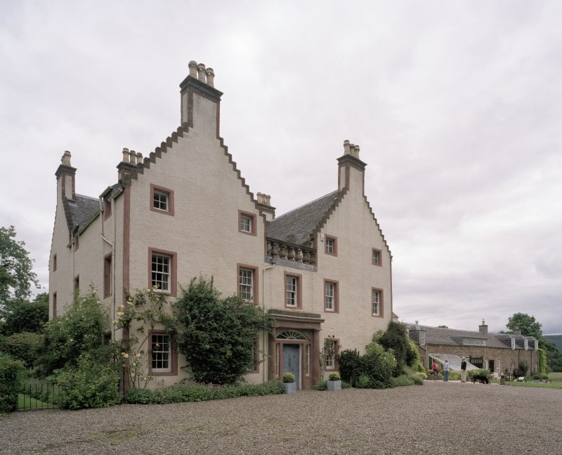 Original House. View from S showing entrance