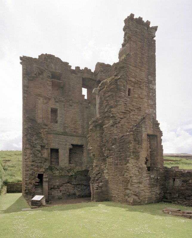 View of Abbot's Tower from N showing interior