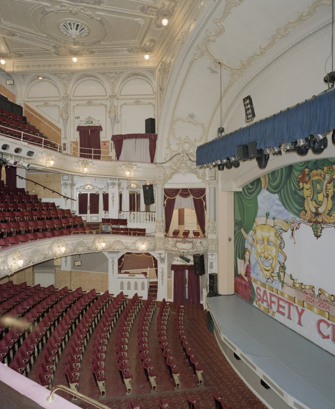 Interior.  Auditorium, view from W