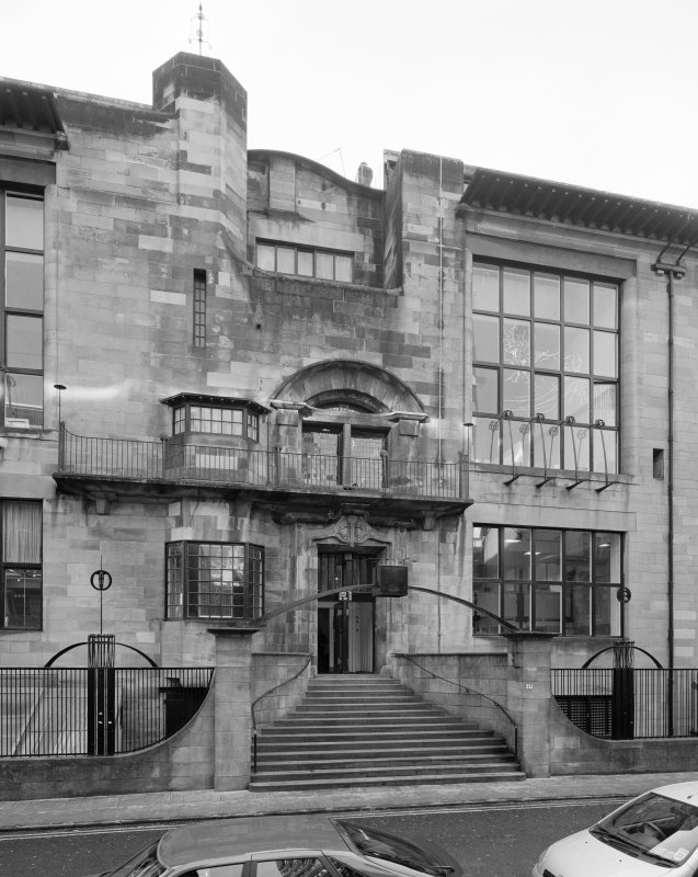 View of main entrance of Glasgow School of Art from NE
