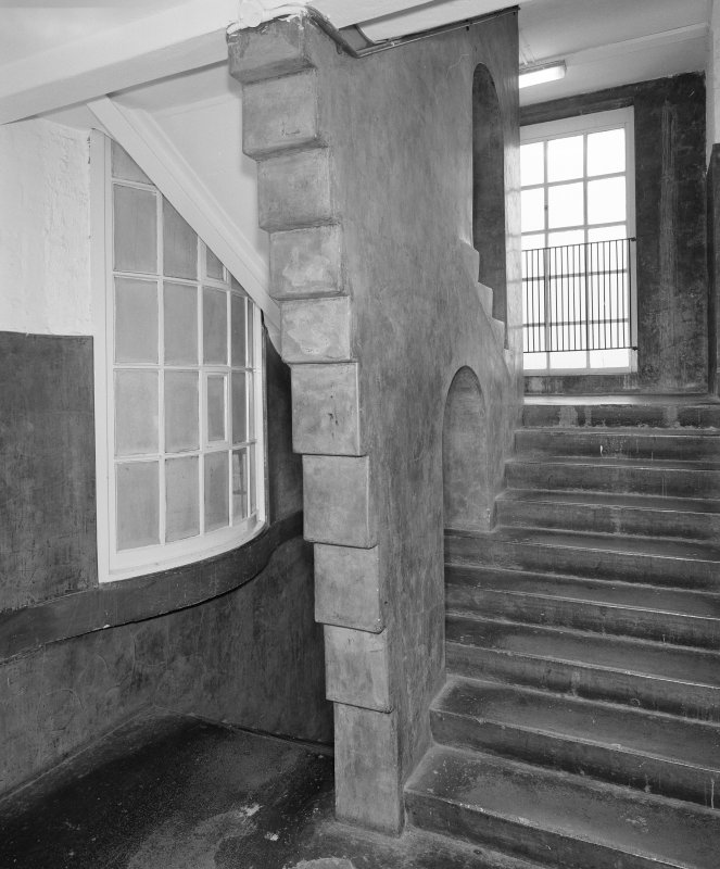 Interior of Glasgow School of Art. E staircase, view from N