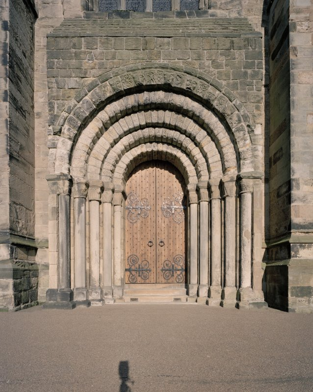 West doorway, view from W