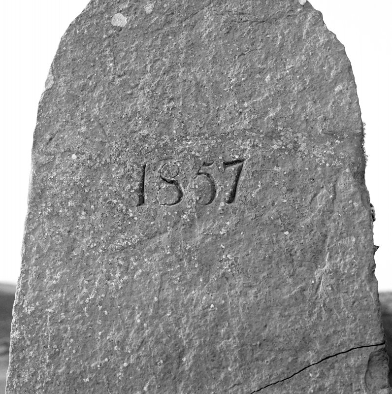 Entrance to churchyard, detail of date inscribed jamb -1857
