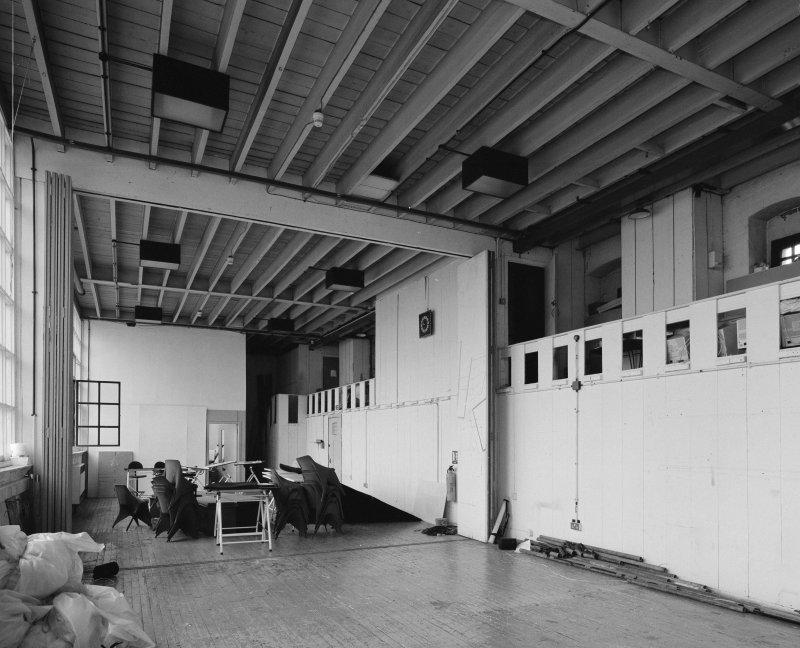 Interior of Glasgow School of Art. 2nd floor, N studio, view from NW