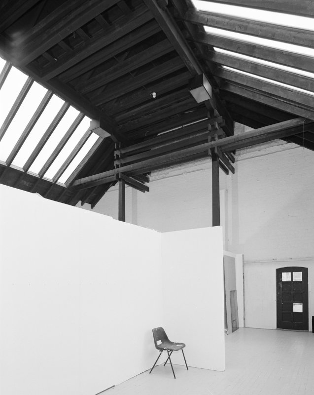 Interior of Glasgow School of Art. 2nd floor, SW studio, view from SW