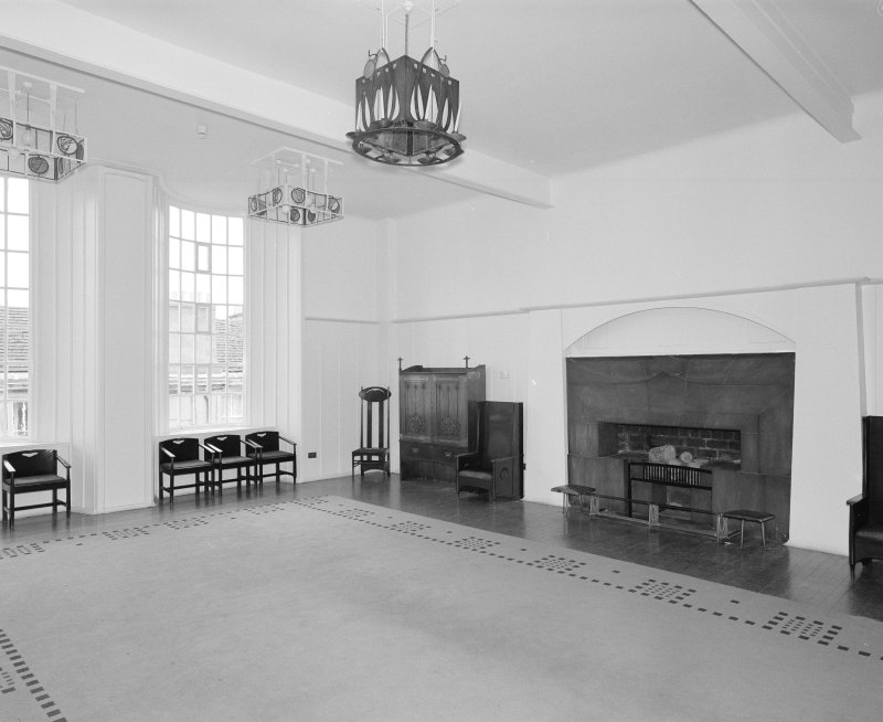 Interior of Glasgow School of Art. 1st floor, Mackintosh room (former board room), view from NW