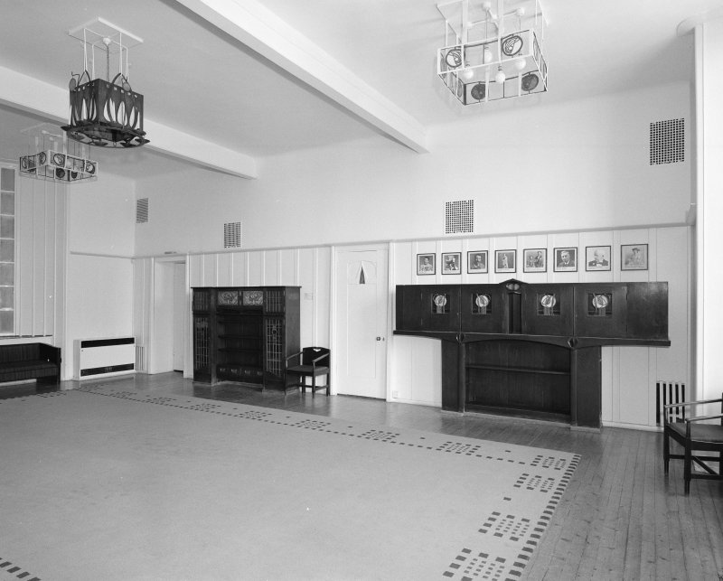 Interior.  1st floor, Mackintosh room (former board room), view from SE