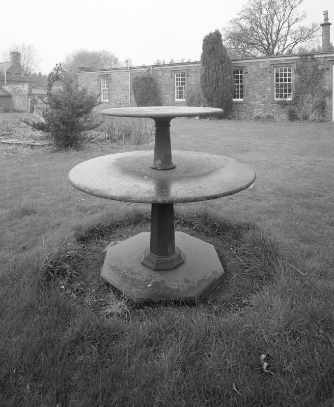 View of stone table