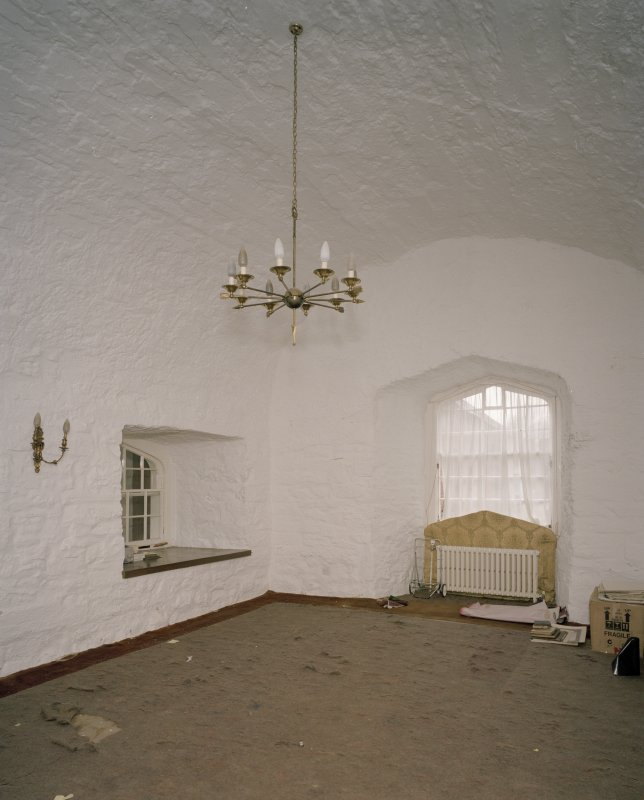 Interior. Ground floor vaulted  dining room