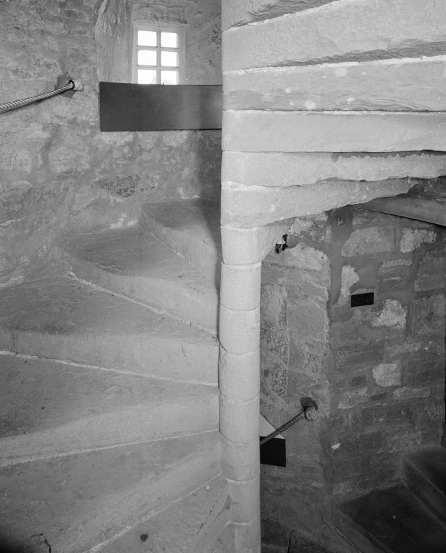 Interior. Detail of stone spiral staircase
