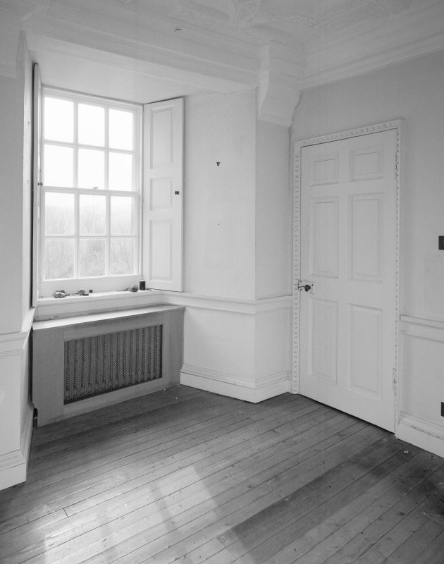 Interior. First floor drawing room detail of door and window