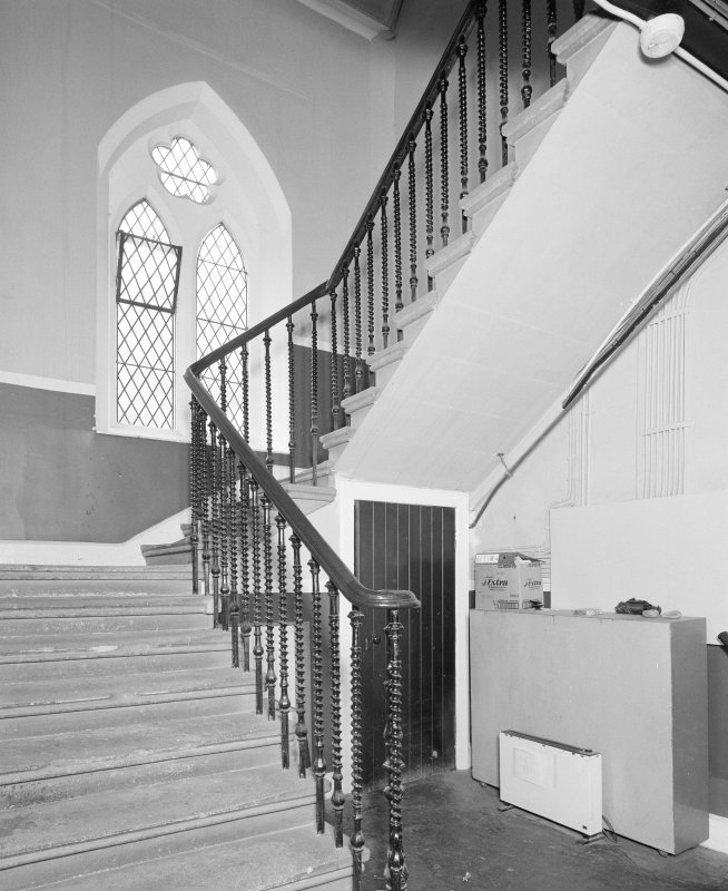 Interior. S staircase to halls