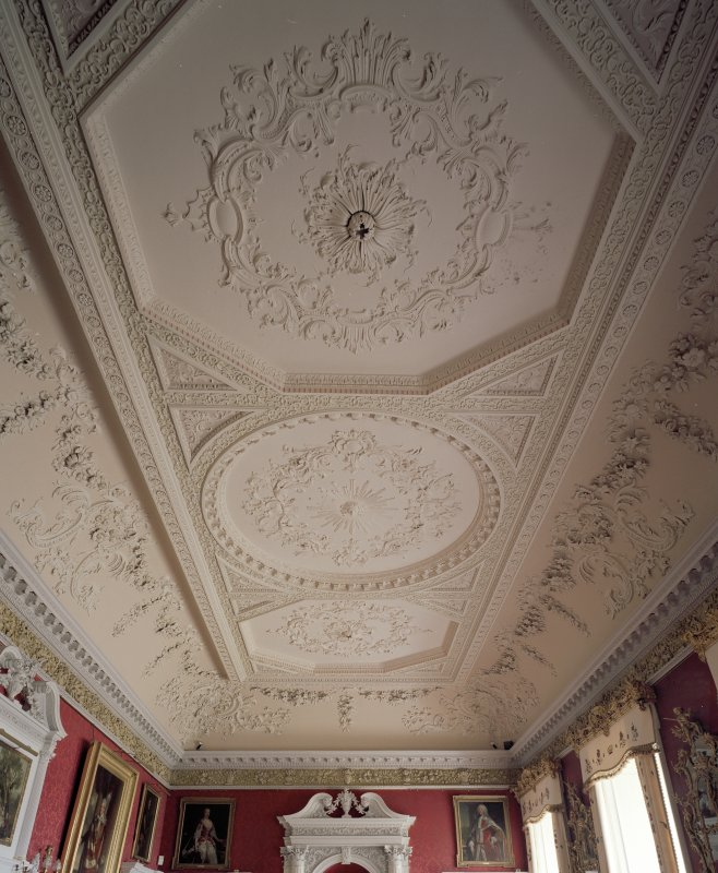 Interior. 2nd floor. Large Drawing Room. Ceiling