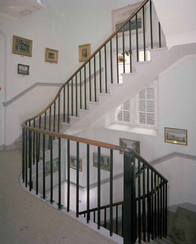 Interior. First floor. Stair hall